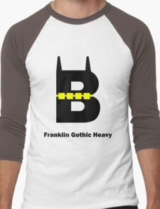 Franklin Gothic Heavy Font Iconic Charactography - B Men's Baseball ¾ T-Shirt