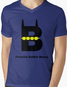 Franklin Gothic Heavy Font Iconic Charactography - B Mens V-Neck T-Shirt