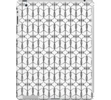 Abstract Girly Black Glitter Trendy Quatrefoil iPad Case/Skin