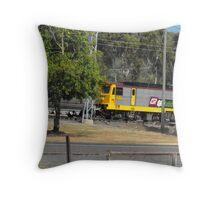Modern Electric  Locomotive  Throw Pillow