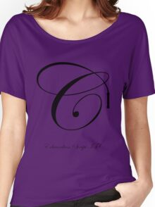 Edwardian Script Font Iconic Charactography - C Women's Relaxed Fit T-Shirt