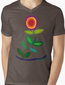 Thriving Flower Mens V-Neck T-Shirt