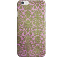 Vintage Pink Brown Grunge Floral Damask Pattern iPhone Case/Skin
