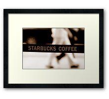 Starbucks Line Framed Print