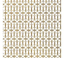 Abstract Girly Gold Glitter Trendy Quatrefoil Photographic Print