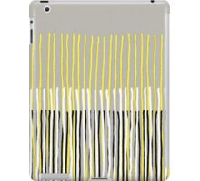 Yellow Rising - Abstract Stripes in Yellow, Grey, Black & White iPad Case/Skin