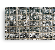 Dirty Wall of Tiles and Paper Texture Canvas Print