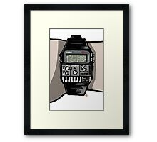 Synth Watch. Framed Print