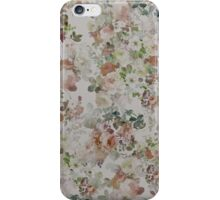 vintage Brown Green Elegant Floral pattern  iPhone Case/Skin