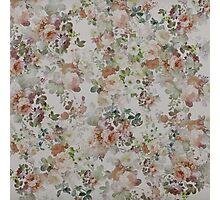 vintage Brown Green Elegant Floral pattern  Photographic Print