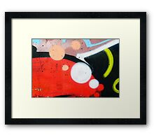 Colored Texture Detail Framed Print