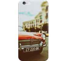 Red convertible MG iPhone Case/Skin