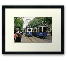 Trams Zurich 19610411 0013 Framed Print