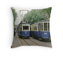Trams Zurich 19610411 0013 Throw Pillow
