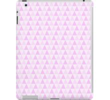 Girly Pink White Trendy Triangles Pattern iPad Case/Skin