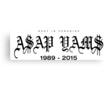 RIP A$AP Yams D-00002 Canvas Print