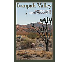 Ivanpah Valley: Worth more than megawatts Photographic Print