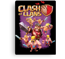 Clash of Clans - Barbarian King Iron Fist Canvas Print