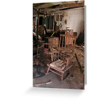 Deliapidated rocking chair rotting.... Greeting Card