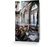 Abandoned and collapsing asylum Greeting Card