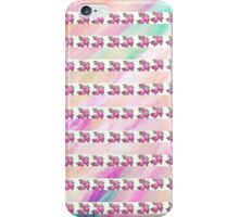 Chic Girly Pink Vintage Floral Watercolor Stripes iPhone Case/Skin
