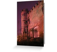 Abandoned castle at night Greeting Card
