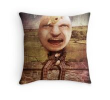 Humpty Hatched Throw Pillow