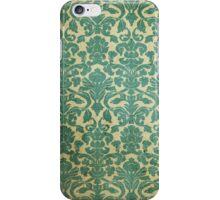 Vintage Green White Floral Damask Pattern iPhone Case/Skin
