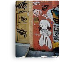 Greek Graffiti Canvas Print