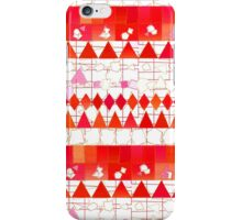 Abstract Red Pink Aztec Chevron Tribal Pattern iPhone Case/Skin