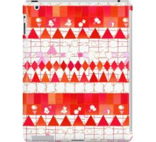 Abstract Red Pink Aztec Chevron Tribal Pattern iPad Case/Skin