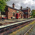 Hadlow Road Railway Station by Adrian Evans