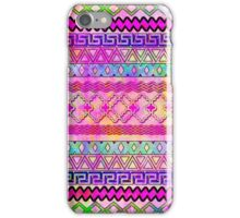 colorful watercolor aztec iPhone Case/Skin