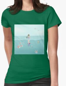 Day at the Ocean Womens Fitted T-Shirt