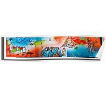 long skateboard drawing Poster
