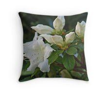 White Azalea Throw Pillow