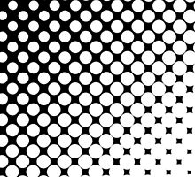 Moderm Abstract Black & White Polka Dots Pattern by Maria Fernandes