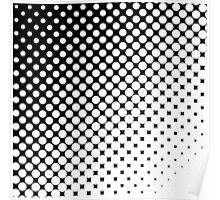 Moderm Abstract Black & White Polka Dots Pattern Poster