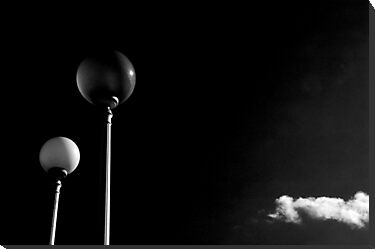 Street lamps and lonely cloud by Silvia Ganora