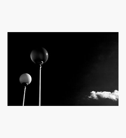 Street lamps and lonely cloud Photographic Print