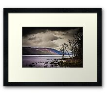 North East along Loch Ness from General Wade's military road Framed Print