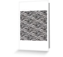 Zebra-striped Greeting Card