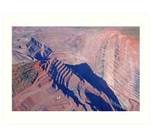 The Argyle Diamond Mine, Kununurra Western Australia Art Print