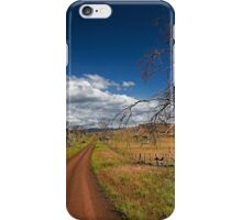 Down the track iPhone Case/Skin