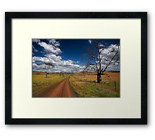 Down the track Framed Print