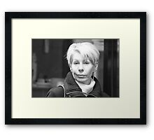 So you think you're smart Framed Print