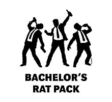 Bachelor's Rat Pack (Stag Party Groom Team / Illu) Photographic Print