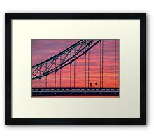 London, sunrise on Tower Bridge Framed Print