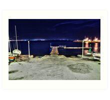 Night scenery Art Print