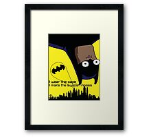 Derpy Batman  Framed Print